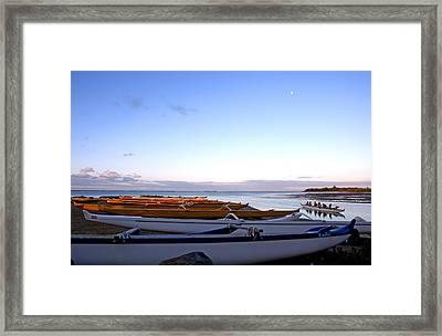 Hawaiian Outrigger Canoes Framed Print