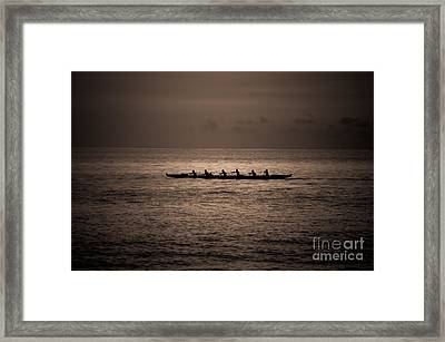 Framed Print featuring the photograph Hawaiian Outrigger by Kelly Wade