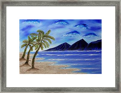 Hawaiian Palms Framed Print by Marie Lamoureaux