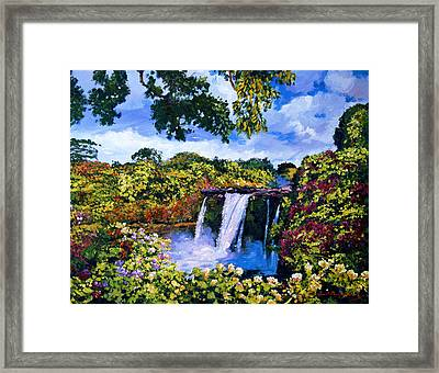Hawaiian Paradise Falls Framed Print by David Lloyd Glover