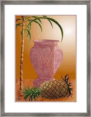 Hawaiian Pineapple Framed Print by Ron Chambers