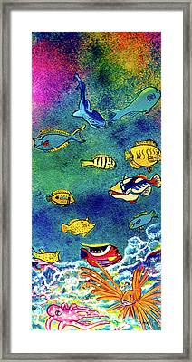 Hawaiian Reef  Fish #223 Framed Print by Donald k Hall