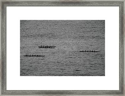 Hawaiian Rowers Framed Print
