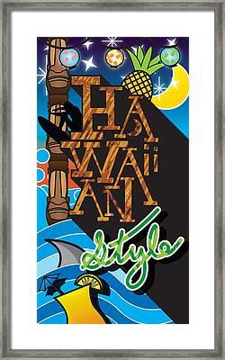 Hawaiian Style Framed Print by Devin Green