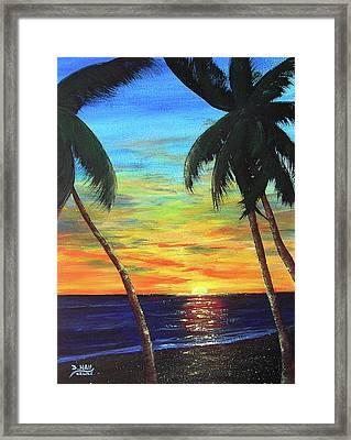 Hawaiian Sunset #340 Framed Print by Donald k Hall