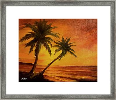 Hawaiian Sunset #380 Framed Print by Donald k Hall