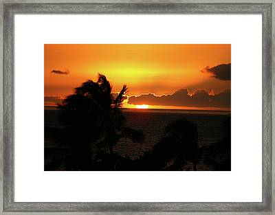 Framed Print featuring the photograph Hawaiian Sunset by Anthony Jones