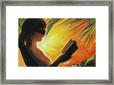 Hawaiian Sunset Catching The Last Rays #132 Framed Print by Donald k Hall