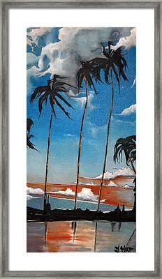 Hawaiian Sunset Framed Print
