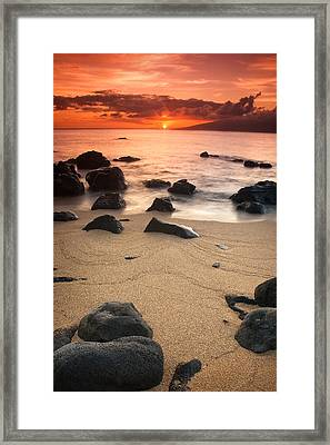 Hawaiian Sunset Framed Print by Nolan Nitschke