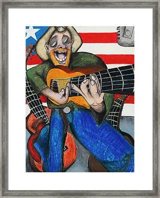 Hawaiian-texas-tunes Framed Print