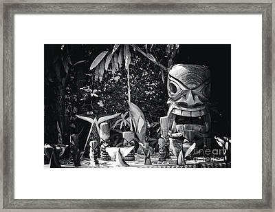 Framed Print featuring the photograph Hawaiian Tiki Carvings by Sharon Mau