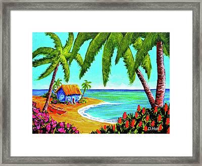 Hawaiian Tropical Beach  #364 Framed Print by Donald k Hall