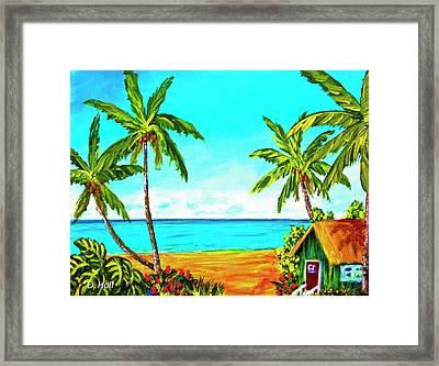 Hawaiian Tropical Beach #366  Framed Print by Donald k Hall