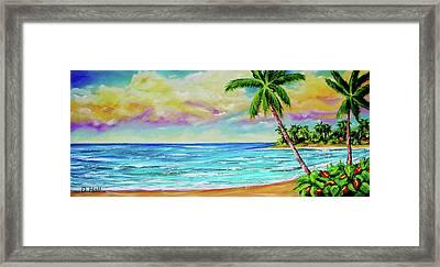 Hawaiian Tropical Beach #408 Framed Print by Donald k Hall