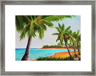 Hawaiian Tropical Beach #429 Framed Print by Donald k Hall