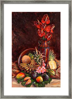 Hawaiian Tropical Fruit Still Life Framed Print