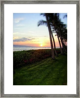 Hawaiian Tropical Sunset Framed Print
