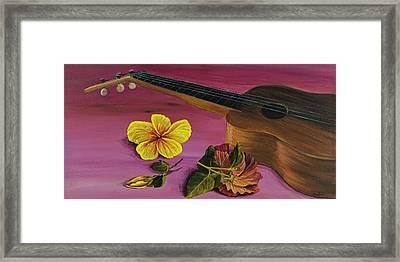 Hawaiian Ukulele Framed Print