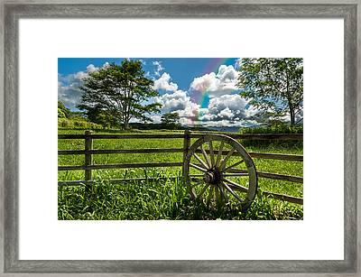 Framed Print featuring the photograph Hawaiian Wagon Wheel by Harry Spitz