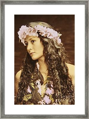 Hawaiian Wahine Framed Print by Himani - Printscapes