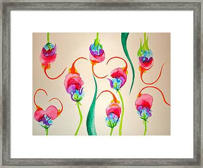 Framed Print featuring the painting Hawaiian Warrior Upside-down Flowers by Erika Swartzkopf