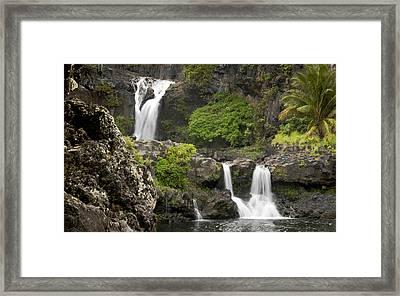 Hawaiian Waterfall Framed Print by Don Wolf
