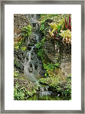 Hawaiian Waterfall Framed Print by Michael Peychich