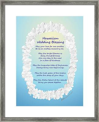 Hawaiian Wedding Blessing Framed Print