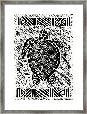 Hawaiiana Honu Framed Print