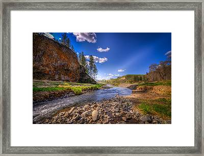 Hawk Creek Framed Print