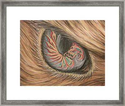 Hawk Eye Thunderbird Framed Print by Alysa Sheats