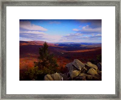 Framed Print featuring the photograph Hawk Mountain Pennsylvania by David Dehner