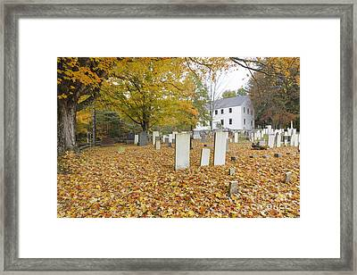 Hawke Meetinghouse - Danville New Hampshire Framed Print by Erin Paul Donovan