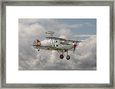 Hawker Fury Framed Print by Pat Speirs