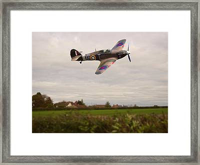 Framed Print featuring the photograph Hawker Hurricane -1 by Paul Gulliver