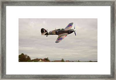 Framed Print featuring the photograph Hawker Hurricane -2 by Paul Gulliver
