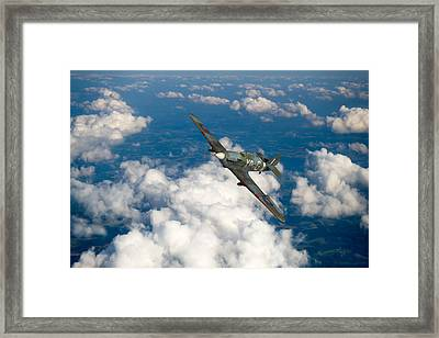 Framed Print featuring the photograph Hawker Hurricane IIb Of 174 Squadron by Gary Eason