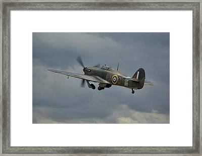 Framed Print featuring the photograph Hawker Hurricane Mk Xii  by Tim Beach