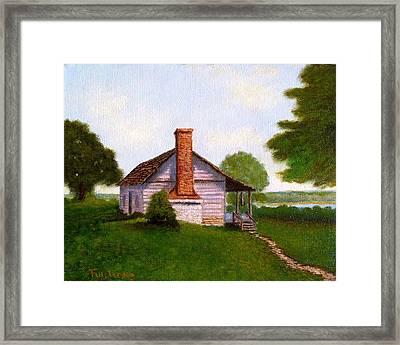 Hawkeye Cabin Framed Print