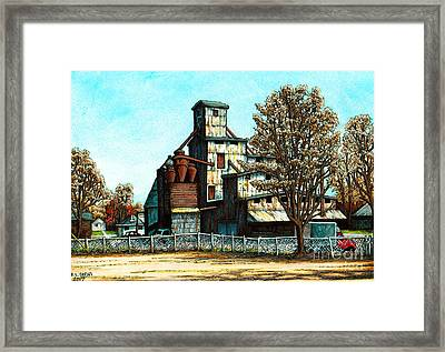 Hawkins Feed Mill Framed Print by Robert Davies