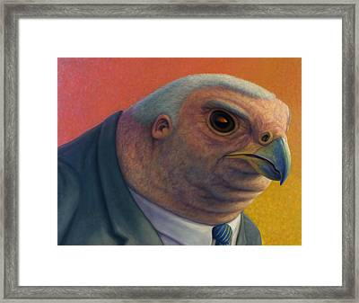 Framed Print featuring the painting Hawkish by James W Johnson