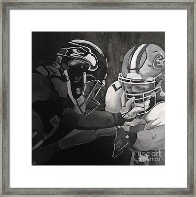 Hawks And 49ers Framed Print by Courtney Cooper