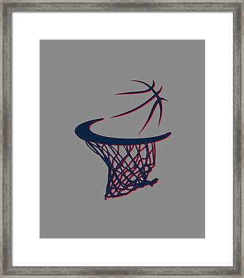 Hawks Basketball Hoop Framed Print