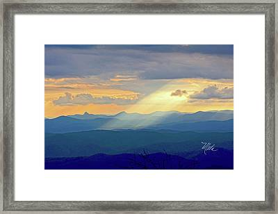 Hawks Bill Mountain Sunset Framed Print
