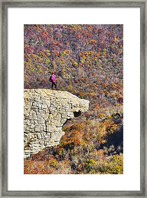 Hawksbill Crag In Autumn Framed Print by Dennis Cox WorldViews