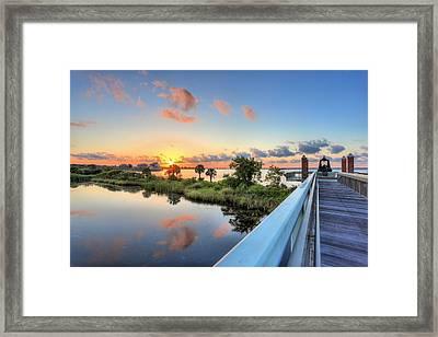 Hawkshaw Lagoon Memorial Park Framed Print by JC Findley
