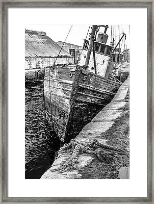 Hawser Not Needed Framed Print