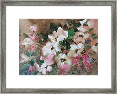 Hawthorne Beauties Framed Print by Dianna Willman