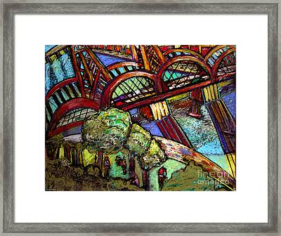 Hawthorne Bridge 2 Framed Print by Angelina Marino